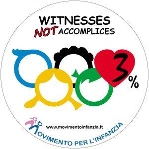 LOGO - WITNESSES NOT ACCOMPLICES (con sfondo quadrato)